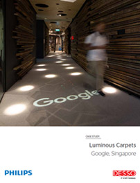 Caso práctico de Google Singapore y Luminous Carpets
